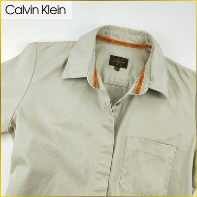 日本二手衣✈️CALVIN KLEIN 短袖襯衫 薄外套 棉質外套 內搭外穿 襯衫外套 CK 女裝 M号 A2221C