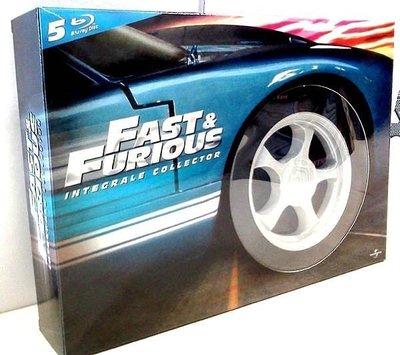 【BD藍光】玩命關頭1~5集套裝:限量輪胎造型典藏版The Fast and the Furious(中文字幕)