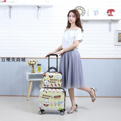精選 箱子小行李箱女兒童拉桿箱男18寸萬向輪旅行登機箱包迷你可愛16寸