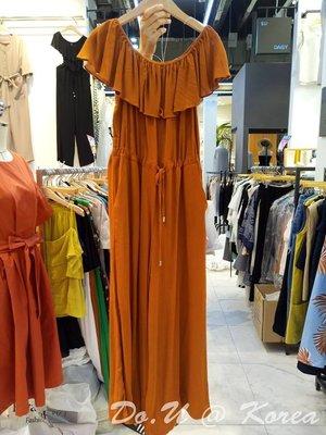 Dressing On You 韓國連線  多WAY平口荷葉連身褲(2色)