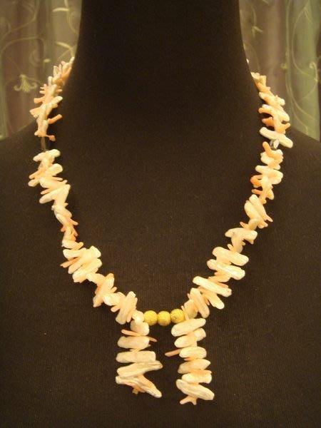 賣家珍藏,全新未戴過天然典雅異型珍珠海竹造型項鍊,低價起標無底價!本商品免運費!