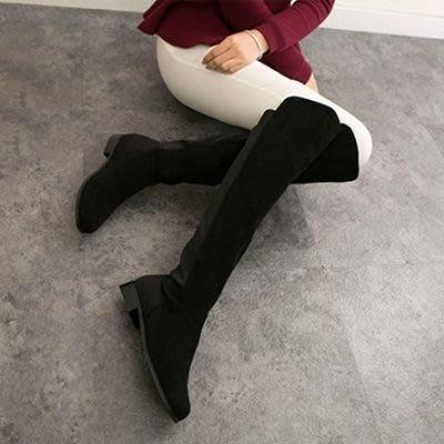 真皮過膝靴 粗跟長靴-時尚經典百搭率性女鞋2款73iv12[獨家進口][米蘭精品]