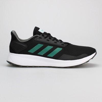 =E.P=ADIDAS DURAMO 9 男鞋 慢跑鞋 輕量透氣 黑綠配色 EE8029