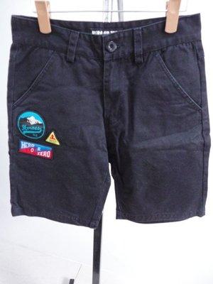 99元起標~HERO OR ZERO~黑色休閒短褲~SIZE:M