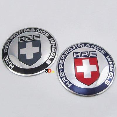 汽車改裝輪轂中心蓋貼標 (平面61MM/57MM)弧64.5汽車輪轂標HRE輪轂蓋標 HRE輪蓋貼 HRE輪轂中心蓋貼標