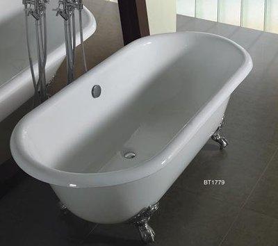 【時尚精品館-浴缸】KARAT BT-1779 鑄鐵古典浴缸(170.9 x 79 x 47cm)