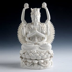 INPHIC-佛像 觀音陶瓷16吋千手觀音菩薩金彩佛像陶瓷佛像