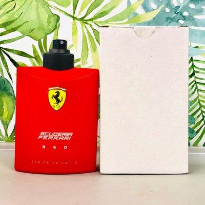 沒有名字的香水店? FERRARI 紅色法拉利 男性淡香水 125ml TESTER 新舊包裝隨機出貨