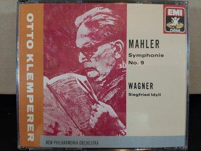 Klemperer,MahlerSym No.9,Wagner-Siegfried Idyll克倫培勒指揮新愛樂管弦樂團,馬勒-第九號交響曲,華格納-齊格菲牧歌