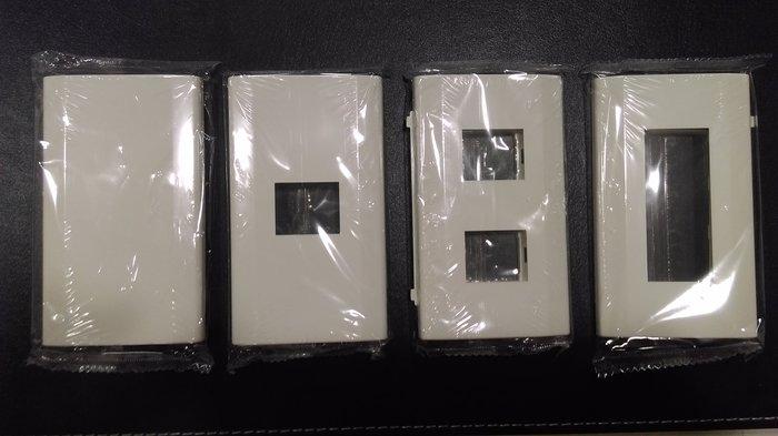 DIY水電材料 國際牌星光系列一連式蓋板無孔/1孔/2孔/3孔(白色)