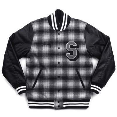 【日貨代購CITY】Stussy Plaid Letterman Varsity Jacket 棒外 115150 現貨