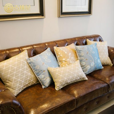 簡約現代歐式樣板間花錦沙發抱枕汽車靠腰墊床頭靠枕不含芯抱枕套