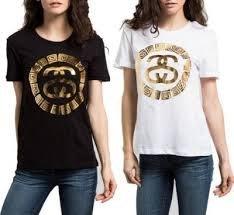 【HOMIEZ 】STUSSY SACHI EXPOSED TEE 女款 經典大logo 黑 白