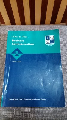 轉買二手書 LCCI How to Pass Business Administration First Level