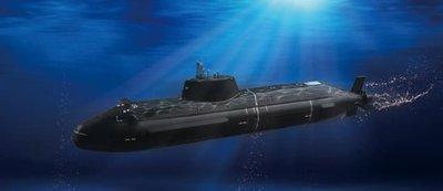 【TRUMPETER 04598】小號手 1/350 HMS Astute 英國機敏號潛艇