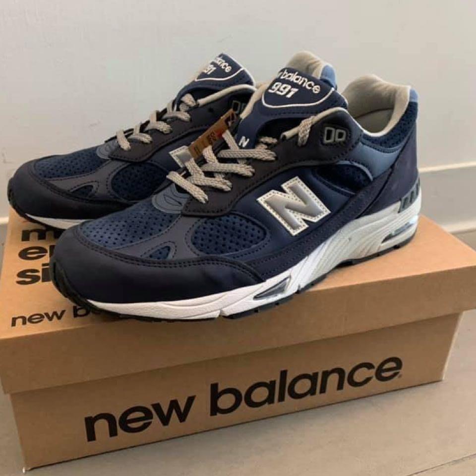 m991 NB 991 NVT跑步鞋灰藍元祖灰