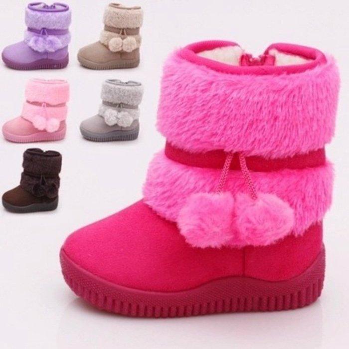 東大門平價鋪  2到12歲幼中大女孩雪地靴,兒童保暖棉鞋