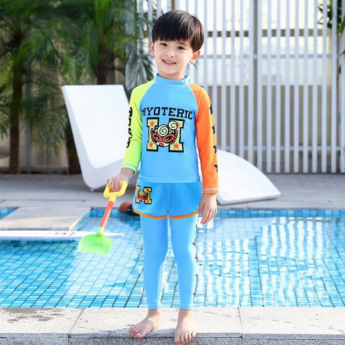 [舒漫]2003泳衣兒童泳衣泳褲潛水衣連身泳衣生男生1917寶寶泳衣