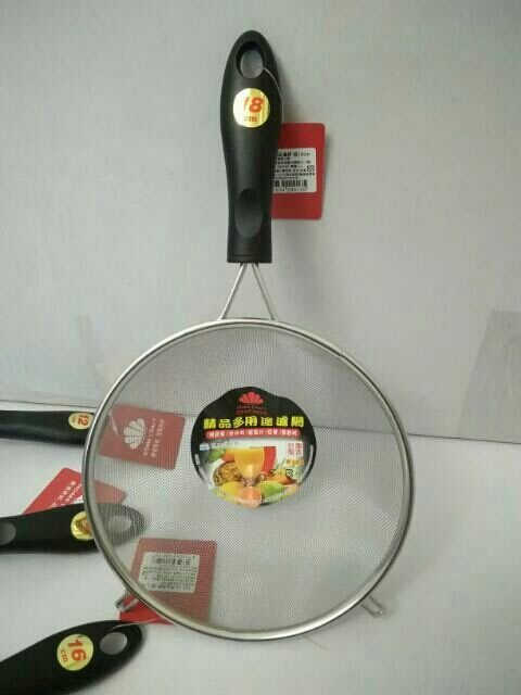 濾網 果汁網 油炸網 濾豆漿 304不鏽鋼 篩麵粉 濾果汁18cm有勾台灣製造 一入