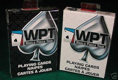 WPT B&W 黑白 V2 撲克牌 1副