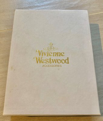 80%新【Vivienne Westwood】原装白色銀包錢包紙盒white wallet paper box