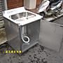 鑫忠廚房設備-餐飲設備:訂做手工厚料櫥櫃工作臺附水槽-賣場有烤箱-快速爐-西餐爐-水槽-冰箱