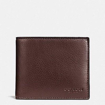 【蟹老闆】 COACH【現貨】真品  素面皮革 質感佳 經典 多層短夾皮夾  F74991 Wallet 咖啡色