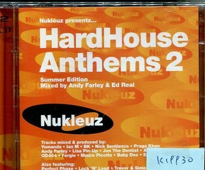 *真音樂* HARD HOUSE ANTHEMS 2 2CD 二手 K19930