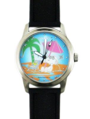 【卡漫迷】 出清 史奴比 矽膠 自動 機械錶 海灘 ㊣版 史努比 男錶 女錶 日期 卡通錶 Snoopy 手錶