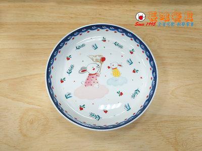 """*~ 長鴻餐具~* 8""""飯盤哈彼兔  (促銷價) 07705-20925-5 現貨+預購"""