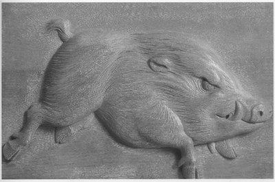 [客人寄賣] 黃土水 銅雕 山豬 15X14cm (楊英風、朱銘、李光裕、洪易、李真、謝棟樑、楊柏林)