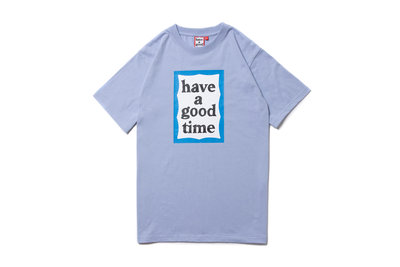 """[ LAB Taipei ]have a good time""""BLUE FRAME S/S TEE""""(Cerulean)"""