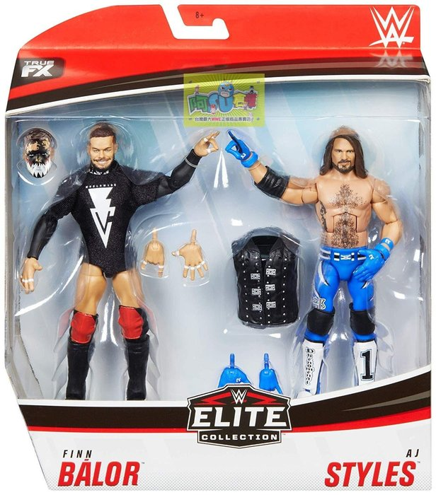 ☆阿Su倉庫☆WWE Finn Balor & AJ Styles Elite Figures 子彈俱樂部精華版雙人組