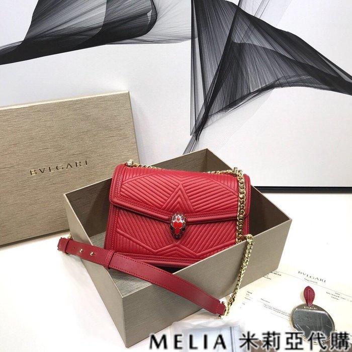 Melia 米莉亞代購 特價款 數量有限 0225 19ss BVLGARI 蛇頭包 小羊皮 蛇形繡線 包裝齊全