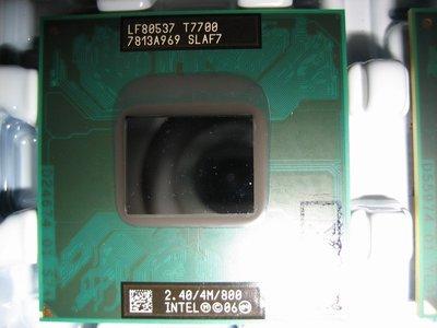 正式版Intel T7700 SLA43 SLAF7 2.4G/4m 筆電965 T9500 T8300 T7800參考