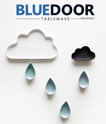 BlueD_ 雨滴造型 雲朵 雨滴 醬料碟 小菜碟 點心盤 甜點盤 西餐盤 早餐北歐風創意造型設計 兒童 IG款 網美風