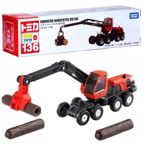 傑仲(有發票)麗嬰國際 公司貨 KOMATSU 編號:136 林業機械車 TM136A3