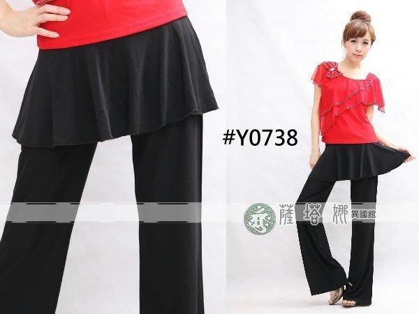 @~薩瓦拉 : M~XL_Y0738_黑 / 白(只做M/L)_圓弧_有裙不可拆水褲/蟑螂褲