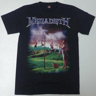 【Mr.17】 Megadeth 樂團 麥加迪斯 重金屬 鞭擊金屬 THRASH METAL樂團T恤短袖(H653)