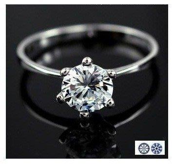 ShoPrincess B1059-925 閃鑽 八心八箭人造鑽石 介指 銀戒指 ring原價$388, 現$98(包郵)