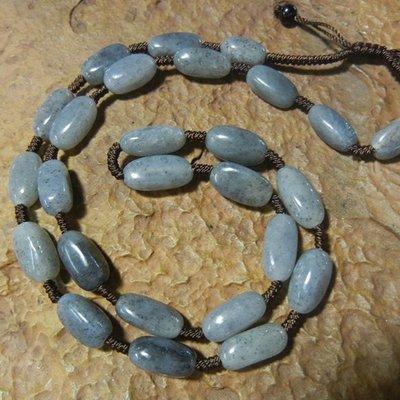 ☯玉玲瓏☯天然和田玉墨玉青花籽料項鏈 裸石