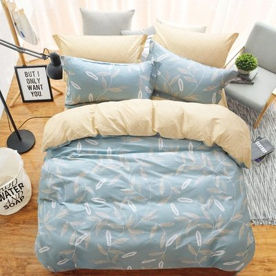 Claire Casa 台灣製 極致純棉 隨風搖曳-雙人三件式床包枕套組