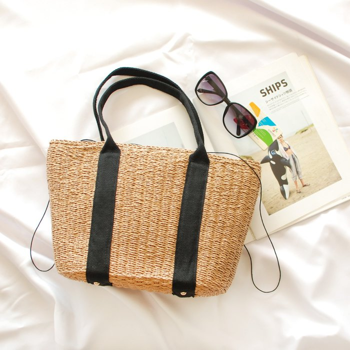 【里樂@ LeaThER】藤編草編包編織包竹籃包沙灘夏日度假必備 673