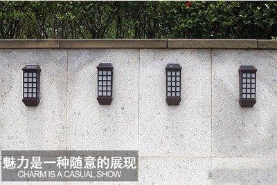 ~四月科技能源~光控復古壁燈太陽能燈 歐式太陽能籬笆燈 庭院燈戶外燈白光 黃光 A0157~2