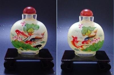 年年有魚中國特色手工藝品創意商務禮品送長輩外事純手工內畫鼻煙壺 壺說20