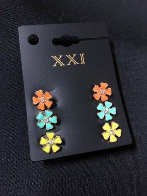 共3對 花花閃石耳環 earrings 購於曼谷Forever 21 $68