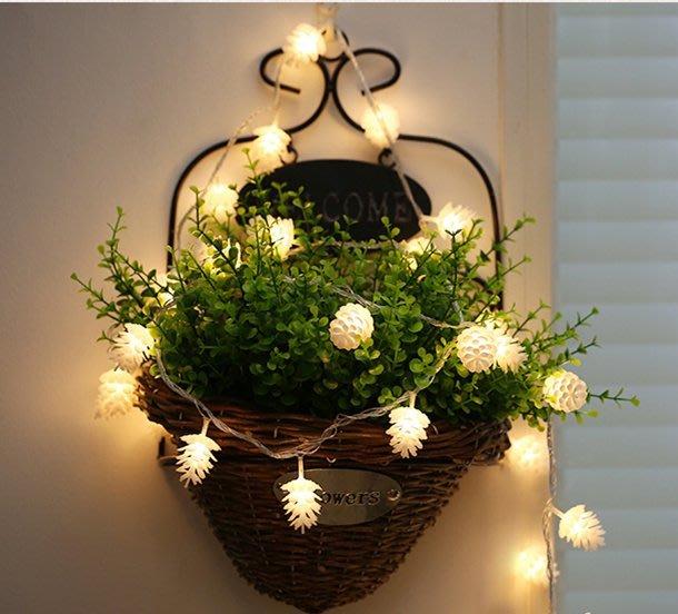 LED {{大松果}}燈串  庭院婚禮節慶裝飾燈(插電款)