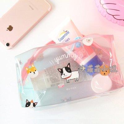 原品生活 PVC透明旅行袋 游泳防潑水 化妝包手拿包收納袋