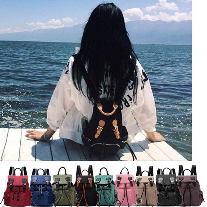 歐美韓國 小款束口後背包 防潑水尼龍 後背包 斜背包 側背包 水餃包 錢包 托特包 書包 媽媽包 手提包 包包 女包大包