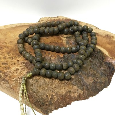百年古董木珠 印度紫檀108顆念珠手串